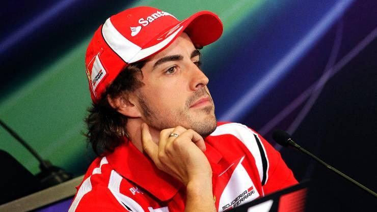 «El Matador» Fernando Alonso tut sich im Ferrari zur Zeit schwer mit der Konkurrenz der Roten Bullen.  Keystone