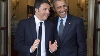 Echter und falscher Italiener: Renzi (l.) und Obama (Archiv)