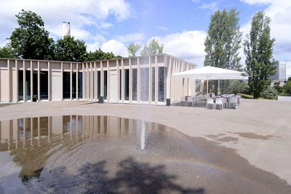 Der Platz, wo heute der Pavillon steht, war früher ein Waldstück.
