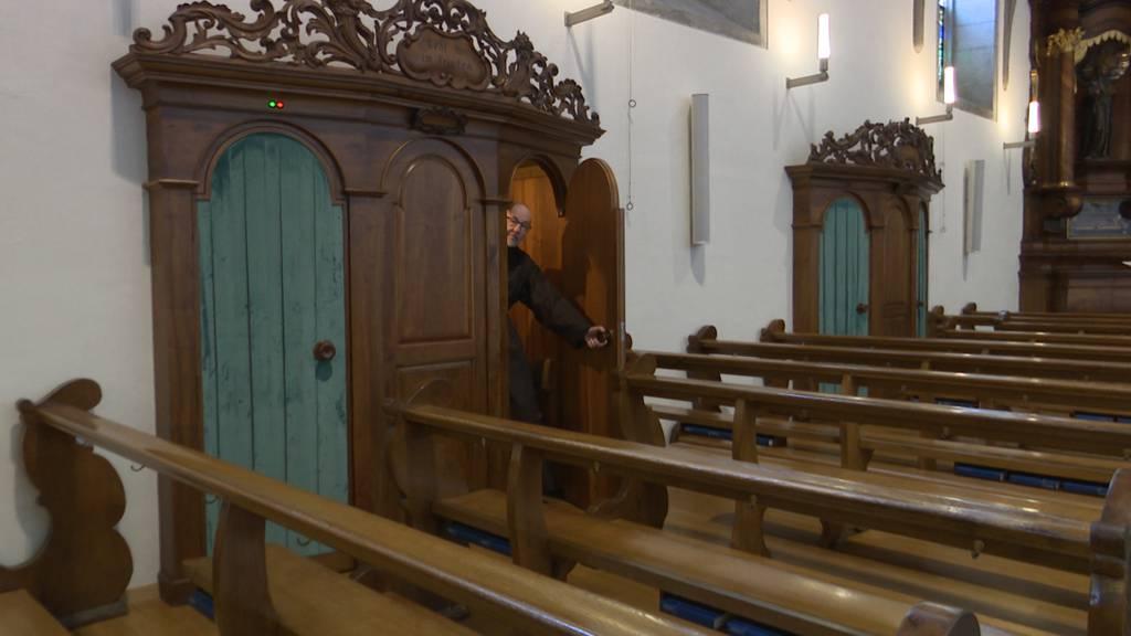 Bruder Josef Regli vom Kloster Wesemlin nimmt noch immer Beichten ab, jedoch nur telefonisch.