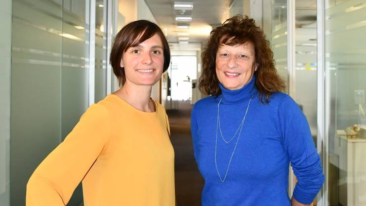 Margot Keist (rechts) und Marita Sutter präsentierten die neue Gönnerplattform der Brugger Energieversorgerin IBB.