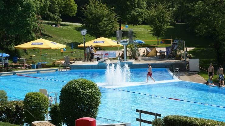 Das neue Schwimmbecken in Küttigen.