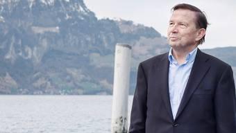 Der ehemalige FDP-Präsident Franz Steinegger in Flüelen am Urnersee.