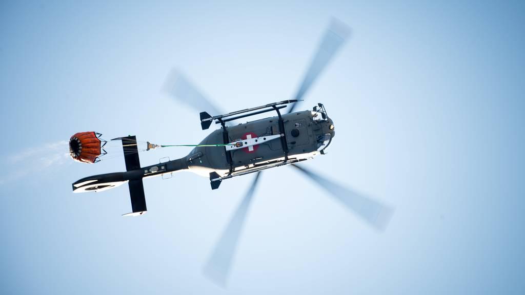 Einsatz eines Rettungshelikopters. (Symbolbild)