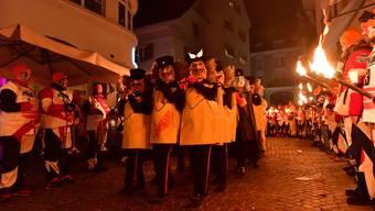 Oltner Fasnacht 2018: Monsterkonzert und Trommler- und Pfyffer beim letzten Gässle