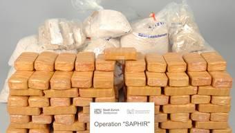Die Drogen haben einen Marktwert von 12 bis 16 Millionen Franken (Bild: Stadtpolizei Zürich)