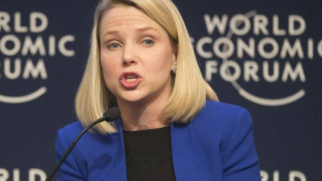 Yahoo-CEO Marissa Mayer spricht am WEF in Davos