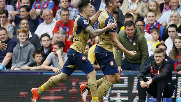 Giroud (rechts) traf zum 1:0 für Arsenal