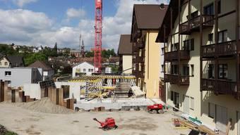 Erfreuliche Baufortschritte bei der Erweiterung des Alterszentrums Klostermatte in Laufenburg.