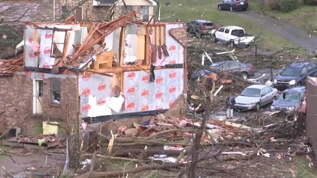 Tornado fordert 25 Todesopfer in Tennessee