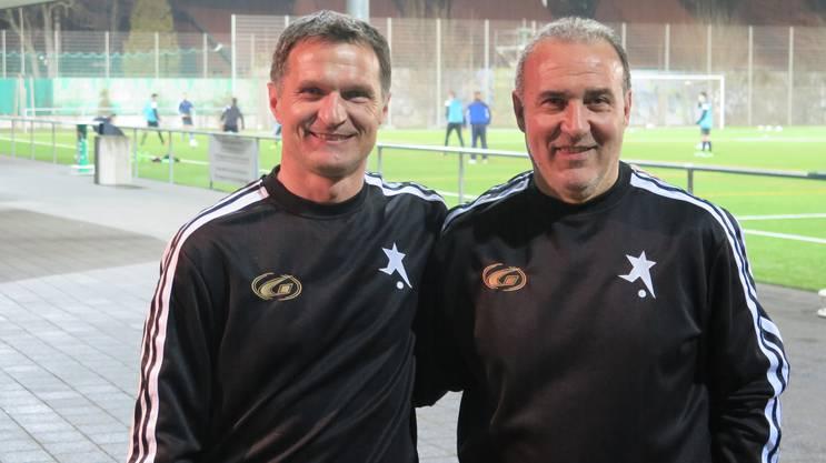 Dariusz Skrzypczak (l.) konnte sein erstes Spiel mit dem FC Black Stars gewinnen.