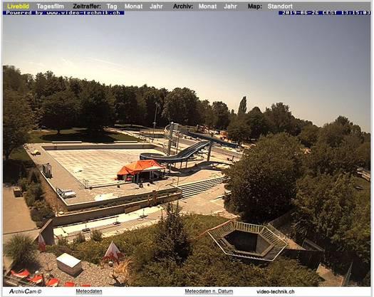 Dieses Bild nahm die Baustellen-Cam am Mittwochnachmittag auf.