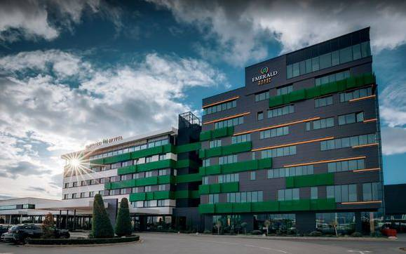 Das Hotel Emerald in Pristina.