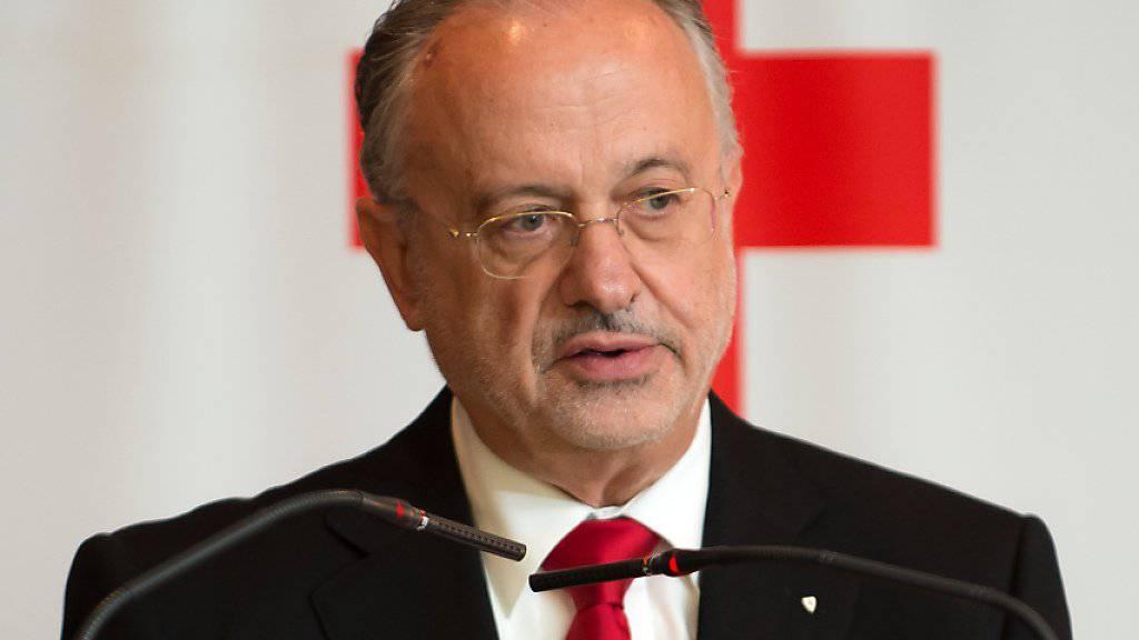 Post-Vizepräsident Adriano Vassalli, hier am Jahrestreffen des Schweizerischen Roten Kreuzes im Juni 2017 in Lugano. (Archivbild)