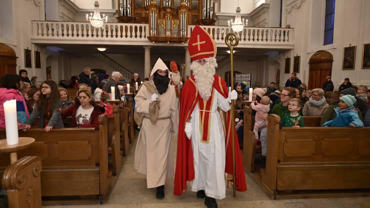 Traditionelle Aussendung der Samichläuse in der Eusebiuskirche Grenchen