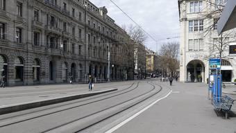 Der Lockdown von Mitte März hinterlässt Spuren in den Zürcher Kantonsfinanzen. (Symbolbild)