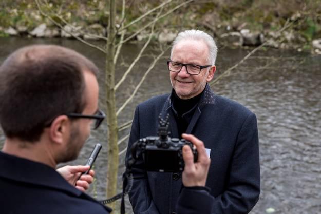 Martin Blaser gibt dieser Zeitung ein Video-Interview