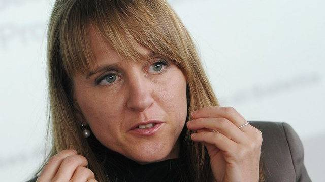 Seraina Rohrer, Direktorin der Solothurner Filmtage, vor den Medien in Zürich