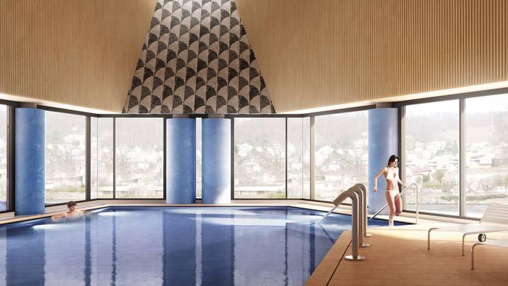 Im Herbst 2020 soll das von Mario Botta entworfene Thermalbad erste Badegäste anlocken.