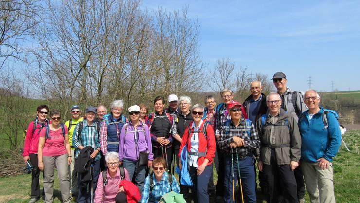 Gruppenfoto auf dem Fricktaler Höhenweg