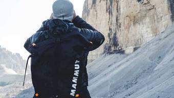 In den Bergen oft anzutreffen: die Outdoormarke Mammut.