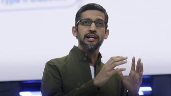 Musste sich über drei Stunden den Fragen des Repräsentantenhaus stellen: Google-CEO Sundar Pichai. (Archivbild)