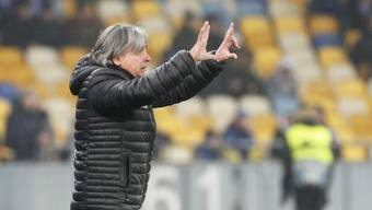 Maurizio Jacobacci treibt seine Spieler in Kiew unermüdlich an