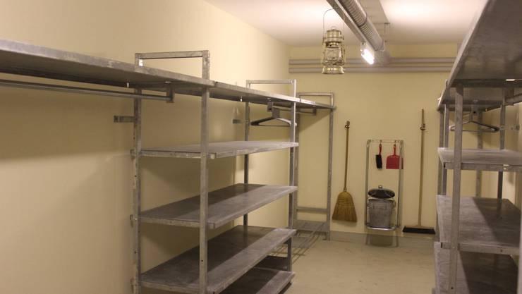 Ein Garderobenraum