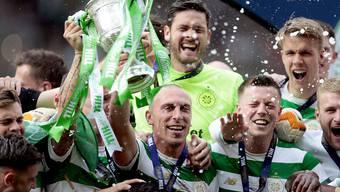 Im Freudentaumel: Celtic Glasgow gewann den schottischen Cup zum 38. Mal