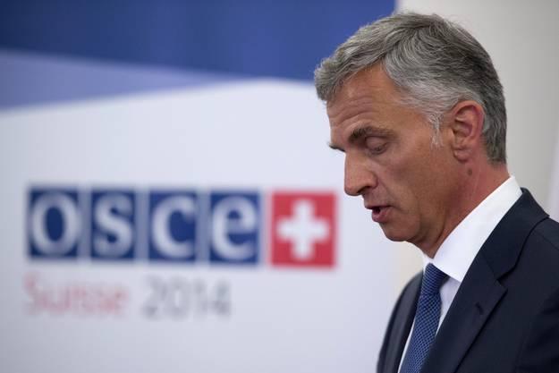 Bundesrat Didier Burkhalter als OSZE-Vorsitzender.