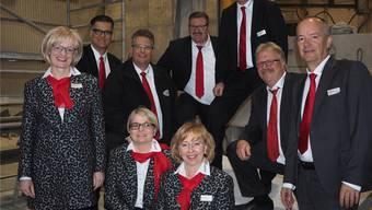 Fast unverändert geht der Vorstand ins neue Vereinsjahr. Nur Adrian Ackermann (Zweiter von links) schied aus dem Gremium aus.hcw