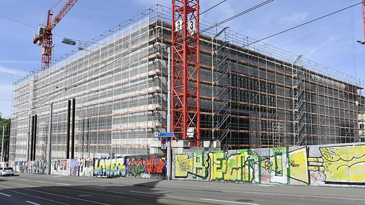 Die Bauwirtschaft konsolidierte sich im ersten Quartal: Neubau des Kunsthauses in Zürich. (Symbolbild)