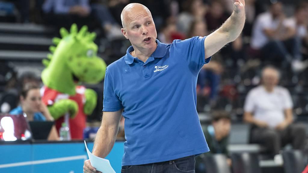 Marko Klok nimmt mit Volley Amriswil die erste Hürde in der Qualifikation zur Champions League