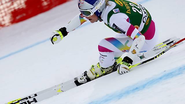 Lindsey Vonn dominiert das Training in St. Moritz.