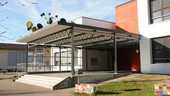 Die Bezirksschule in Leuggern, aufgenommen am 16. März 2019.