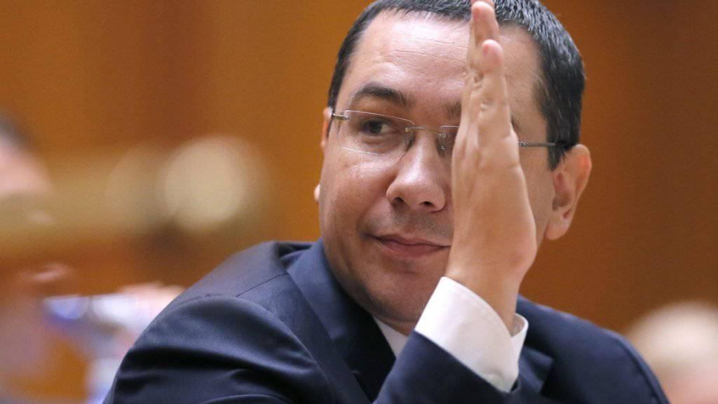 Victor Ponta, der seinen Rücktritt als rumänischer Regierungschef bekanntgab