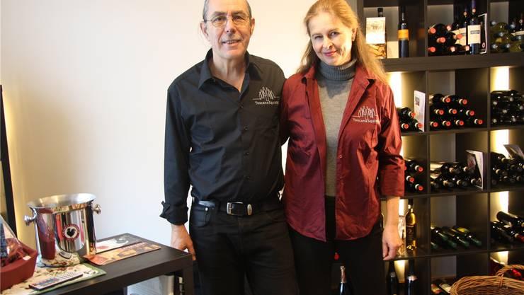 Michael Baumgartner und Gabriela Apfl in ihrer «Toscana Squisita» an der Weissensteinstrasse 11.