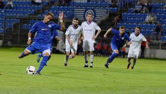 Samuel Zayas sorgte in der 52. per Elfmeter für die 1:0-Führung für den Gastgeber FC Grenchen, der sich am Ende mit einem Punkt begnügen musste.