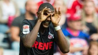 Der Kölner Anthony Modeste erzielte auch gegen Bayern München einen Treffer und hat nun schon fünf Saisontore erzielt