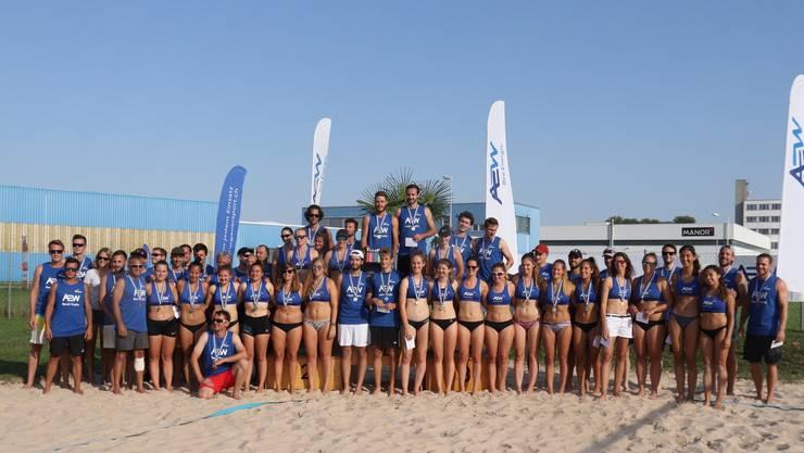 Die Teilnehmerinnen und Teilnehmer der Aargauer Meisterschaften.