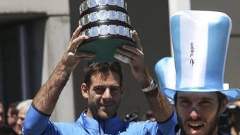 Juan Martin Del Potro liess sich mit seinen Davis-Cup-Kollegen in Buenos Aires feiern