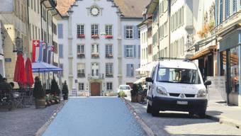 Stadtbach befreit So sieht es bald in der Rathausgasse aus. Adank Architekten
