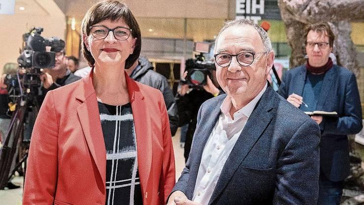 SPD-Führungsduo: Saskia Esken und Norbert Walter-Borjans.