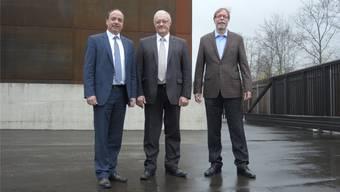Sie stehen für die neue Rechtsform (v. l.): Gemeindeammann Markus Dieth, Gemeinderat Roland Kuster und EWW-Geschäftsleiter Peter Wiederkehr. Sabina Galbiati