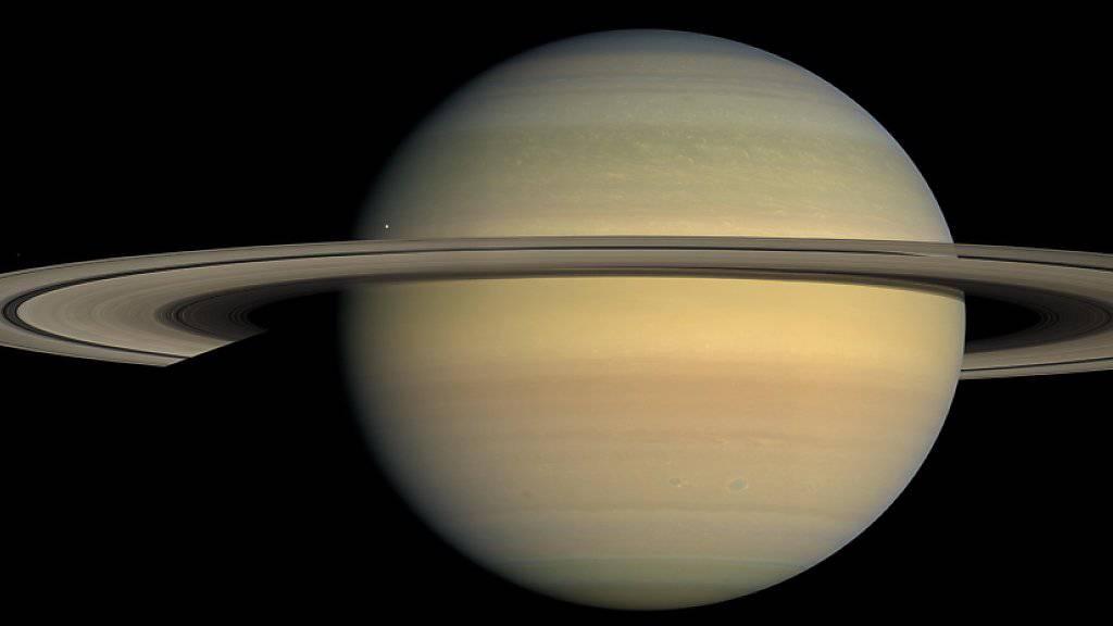 Dieses Bild vom Planeten Saturn lieferte «Cassini» im Jahr 2008. Forschende haben nun das Alter der Ringe auf 10 bis 100 Millionen Jahre datiert. Saturn ist 4,5 Milliarden Jahre alt (Archivbild).