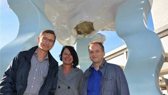Drohender Wolkenbruch: Anders Sjoeberg, Sabine Meni und Wolfgang Hacker (v.l.) empfinden die Sparmassnahmen des Kantons in der Bildung als Verschlechterung.