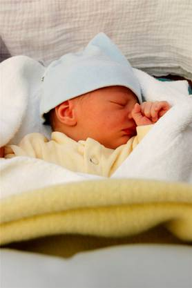 Willkommen: Naima, das erste Baby im neuen Jahr am KS Olten.