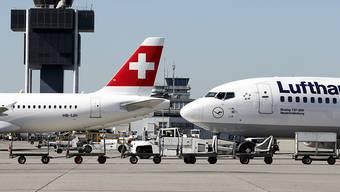Die Swiss und ihre Mutter Lufthansa streichen wegen der sich ausbreitenden Coronavirusinfektion sämtliche Flüge von und nach China bis zum 9. Februar. (Archiv)