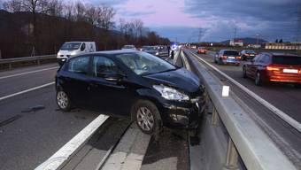 Auffahrunfall auf der A1 bei Oberbuchsiten am 18. Januar 2020