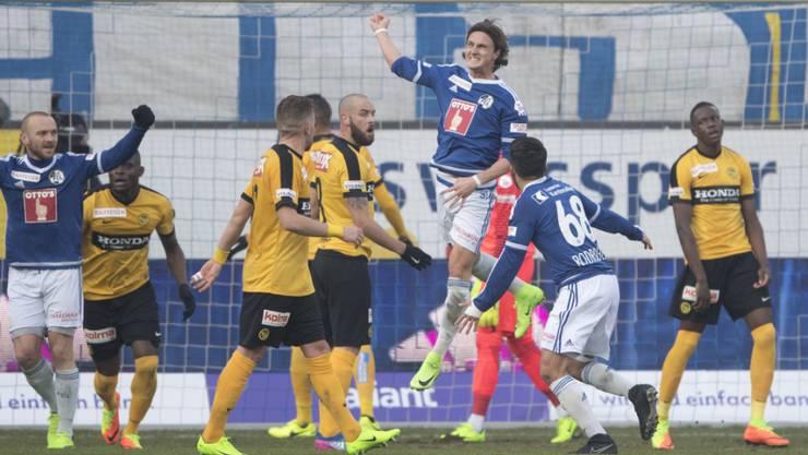 Hekuran Kryeziu sorgte mit dem 2:1 für die Wende zugunsten der Luzerner im Heimspiel gegen die Young Boys